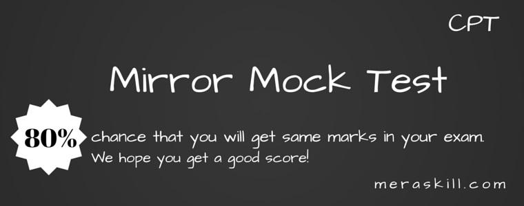 CPT Mock Test