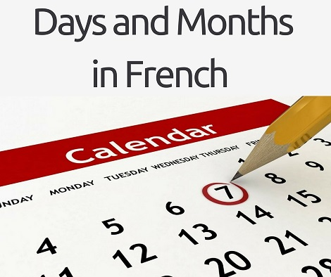 Days and Month in French